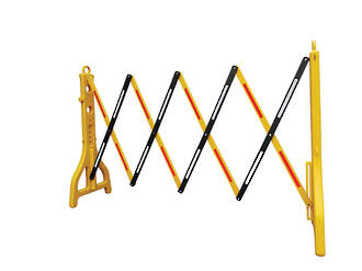 Plastic Extendable Barricade, Yellow and Black