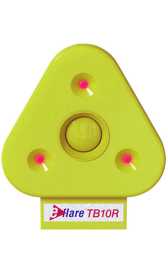 Eflare TB10 flashing  flare for warning triangle