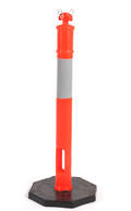 Orange Hi-Vis Bollards with Reflective Bands